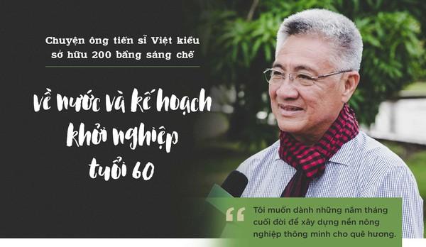 Ông Tiến sĩ Việt kiều hồi hương startup nông nghiệp: Làm đúng cái sai, làm tốt hơn cái đang tốt, làm cho có cái chưa có, làm cái tốt để lại
