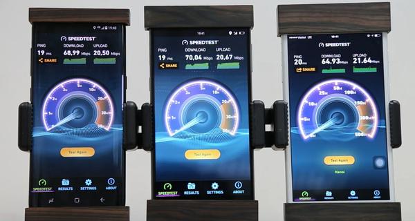 Bphone 2 đọ tốc độ truyền tải 4G với điện thoại Samsung, iPhone, và cái kết bất ngờ