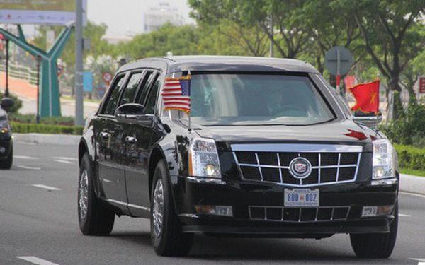 """Chiếc xe """"Quái thú"""" mà tổng thống Mỹ - Donald Trump đi ở Việt Nam có gì đặc biệt?"""