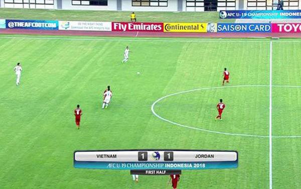 Bánh khúc TV vi phạm bản quyền trận đấu U19 Việt Nam và U19 Jordan