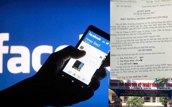Hiệu trưởng trần tình vụ đuổi học 7 HS nói xấu thầy cô trên facebook