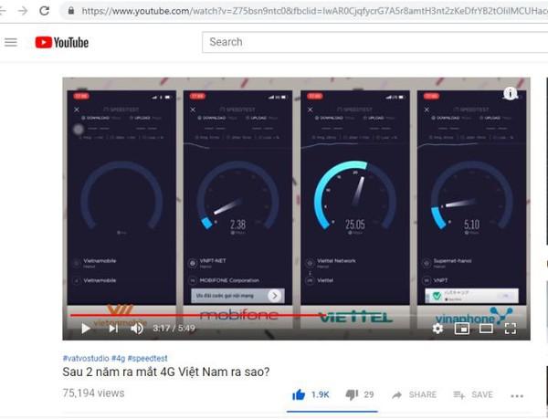 """Clip """"Sau 2 năm ra mắt 4G Việt Nam ra sao?"""" của Vinh Vật Vờ hút giới trẻ"""