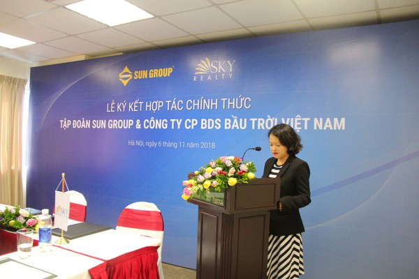 Lễ ký kết hợp tác chính thức Tập đoàn Sun Group và công ty BĐS bầu trời Việt Nam Sky Realty