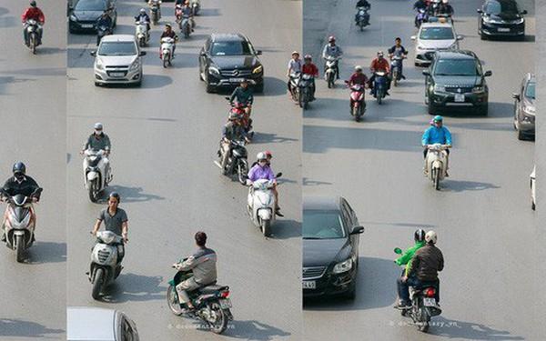 """Bộ ảnh """"Bộ tứ siêu đẳng"""" nhìn giao thông Hà Nội từ trên cao gây sốt cộng đồng mạng vì bắt khoảnh khắc quá """"chất"""""""
