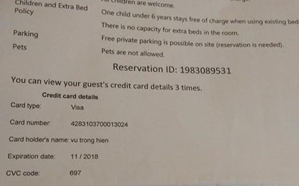 Khách hàng tố bị lộ thông tin thẻ VISA khi đặt phòng qua Agoda, Booking.com