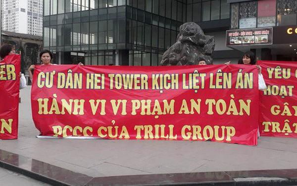 Hà Nội: Cư dân chung cư Hei Tower căng băng rôn phản ánh Trill Group vi phạm an toàn cháy nổ, chủ nhà hàng nói gì?