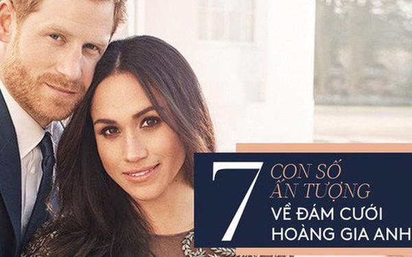 7 con số ấn tượng về đám cưới Hoàng gia Anh: Từ 3 viên kim cương trên nhẫn đính hôn cho tới chiếc váy cưới tiền tỷ