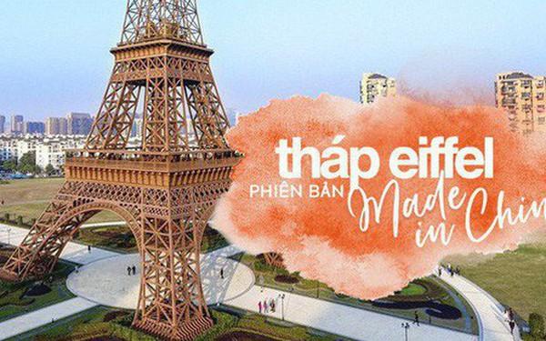 """Tháp Eiffel """"Made in China"""" cứu sống thị trấn ma ở Trung Quốc"""