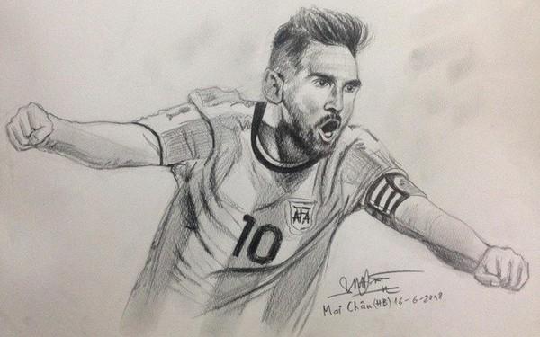 """""""Họa sĩ tiên tri"""" World Cup 2018 trên MXH: Cứ vẽ chân dung ngôi sao đội nào là đội ấy hoà hoặc thua"""