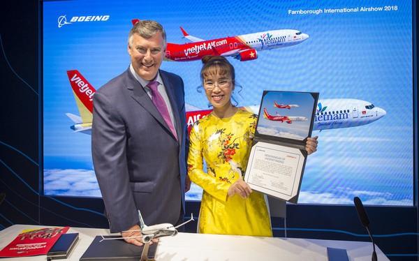 Vietjet Air chi 12,7 tỷ USD mua 100 máy bay của Boeing