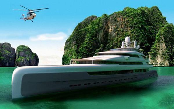 Khám phá siêu du thuyền lớn nhất châu Á, có cả sân riêng cho máy bay trực thăng