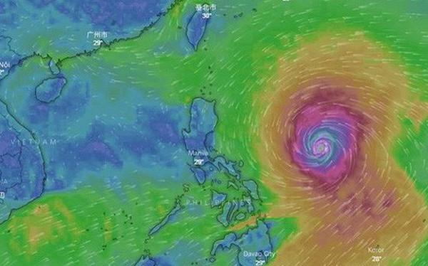 Siêu bão Mangkhut giật cấp 17 đang hướng vào biển Đông