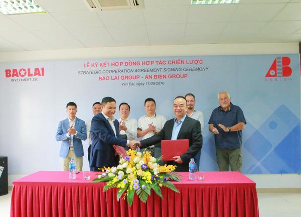 Bảo Lai Group và An Biên Group ký kết hợp đồng hợp tác chiến lược