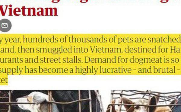 Góc nhìn thú vị của nhiều báo lớn quốc tế về vấn đề ăn thịt chó tại Việt Nam