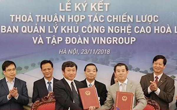 Vingroup sẽ đầu tư 1.200 tỷ đồng cho nhà máy sản xuất thiết bị công nghệ cao tại Khu CNC Hòa Lạc