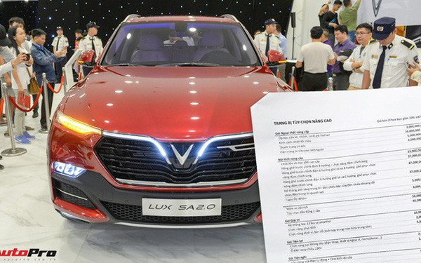 """Khách Việt mất thêm 300 triệu nếu mua sedan, SUV VinFast """"full option"""""""