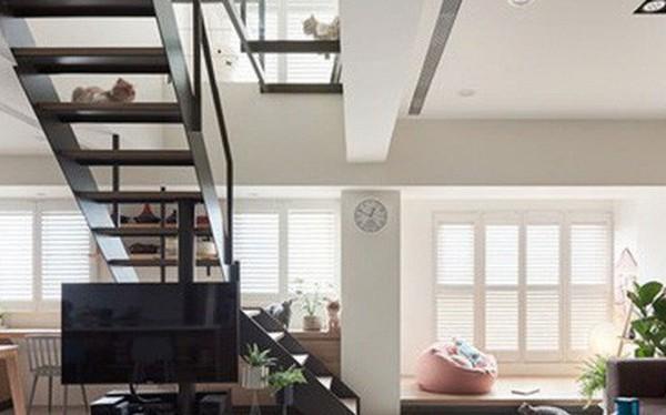 Ngôi nhà rộng 165 m2 sơn màu trắng tinh tế