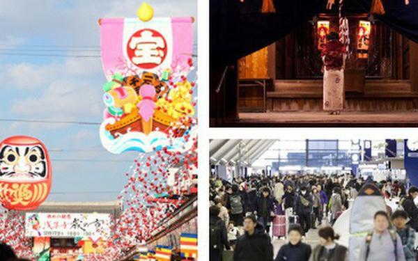Người Nhật rộn ràng trong ngày làm việc cuối năm, chuẩn bị tiễn năm Chó đón năm mới Lợn rừng