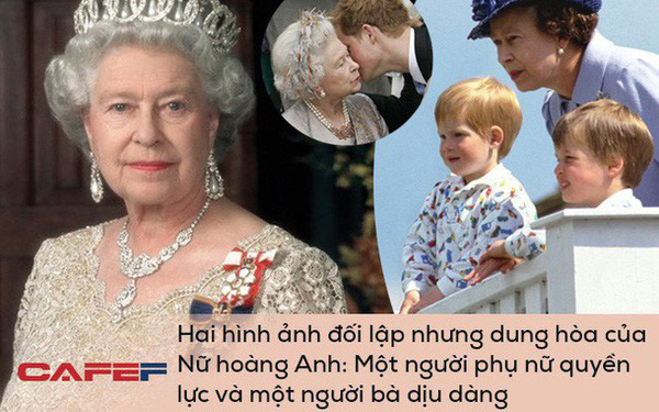 Hai hình ảnh đối lập nhưng dung hoà trong Nữ hoàng Anh: Một người phụ nữ quyền lực và một người bà dịu dàng, bao dung