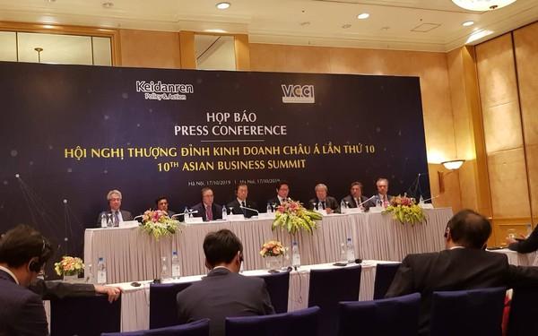 12 tổ chức kinh tế chủ chốt từ các nước Châu Á tụ hội tại Hà Nội, đưa ra tuyên bố chung về một Châu Á siêu kết nối vì sự phát triển bền vững