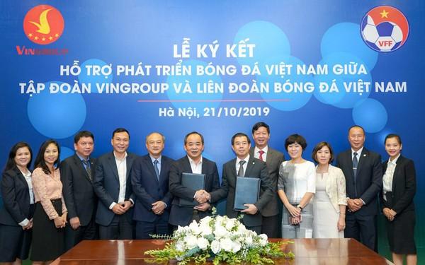 Vingroup bắt tay VFF, hỗ trợ phát triển bóng đá Việt Nam