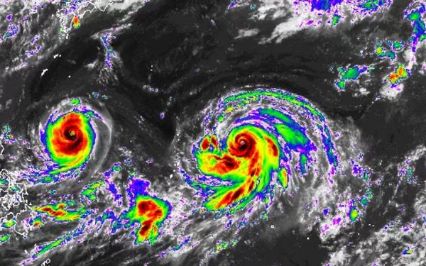 Tin mới nhất về song bão châu Á: 2 cơn bão 'đánh' vào duy nhất quốc gia nào?
