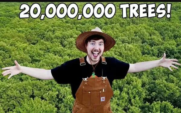 Ai cũng ăn mừng triệu người đăng ký như youtuber này, còn được Elon Musk ủng hộ, Trái Đất chẳng mấy mà được phủ xanh