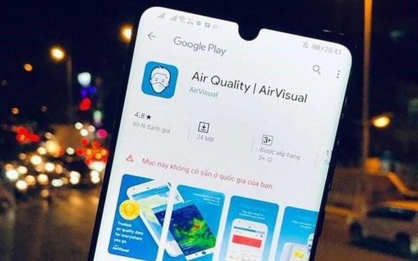 Ứng dụng AirVisual sẽ trở lại Việt Nam một lần nữa?