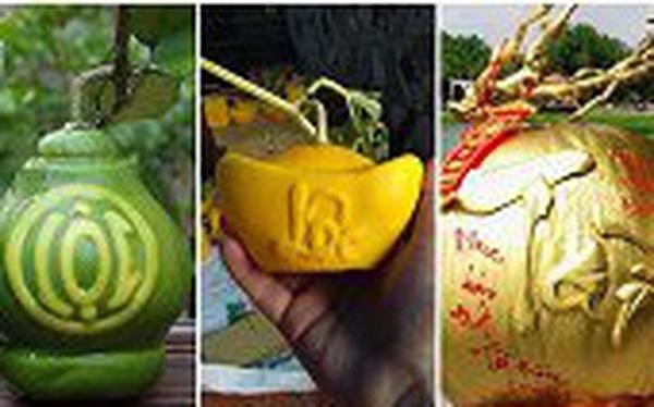 5 loại quả khắc chữ hút khách dịp Tết Nguyên đán