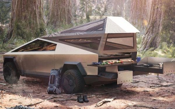Với Cybertruck, dân du lịch có thể tha hồ dã ngoại mà không cần tốn thêm tiền mua lều trại, cứ nhìn tấm hình này thì biết