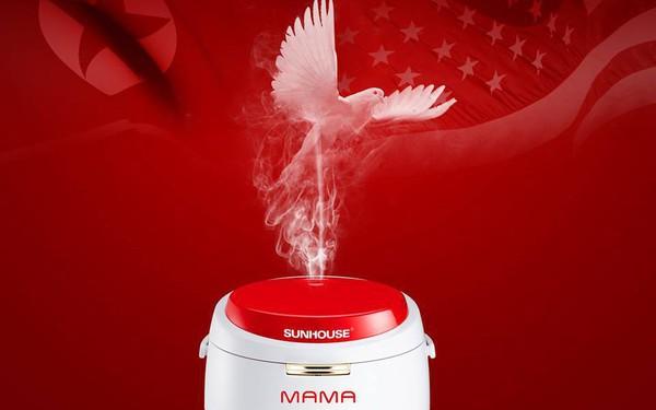 Chậm chân nhưng cao tay, doanh nghiệp của Shark Phú tung chiêu marketing nhân hội nghị Mỹ - Triều kèm lời nhắn: Chọn HẠT CƠM, đừng chọn HẠT NHÂN!