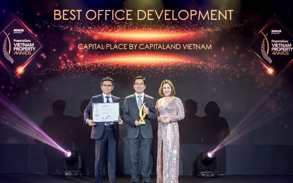 Capital Place, dự án văn phòng của CapitaLand, đạt giải thưởng dự án văn phòng tốt nhất Việt Nam 2019