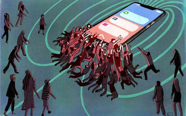 Người trẻ hiện nay dần trở thành tôi tớ đáng thương của điện thoại. Không cai nghiện được, đừng mơ thay đổi thế giới!