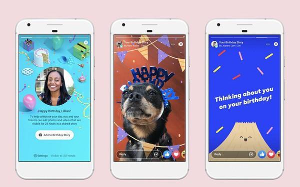 Facebook ra mắt toàn cầu tính năng Tin về Sinh nhật trên Facebook Stories