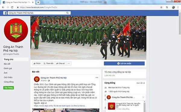 Công an Hà Nội mở kênh tiếp nhận thông tin về an ninh trật tự qua Facebook