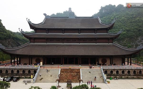 Cảnh hoành tráng của khu trung tâm hội nghị quốc tế tại chùa Tam Chúc - nơi diễn ra đại lễ Vesak Liên Hợp Quốc 2019