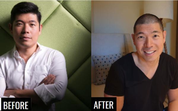 Là bộ mặt của công ty lớn, CEO Grab Anthony Tan gần đây đã không ngần ngại cạo đầu và lý do khiến nhiều người nể phục