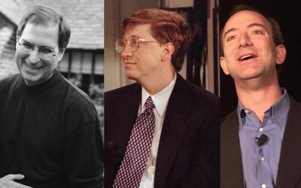 9 tien doan 'trung phoc' cua 3 CEO Jeff Bezos, Bill Gates va Steve Jobs