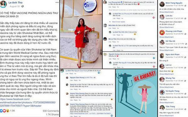 Vợ diễn viên Bình Minh bị tố tiếp tay cho lừa đảo khi quảng cáo vaccine phòng ngừa ung thư