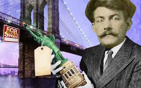 """Đỉnh cao lừa đảo bất động sản: Đóng giả làm cháu tướng quân, chỉ một câu """"thần chú"""" đã có thể bán cầu Brooklyn, Bảo tàng nghệ thuật và cả Tượng Nữ thần Tự"""