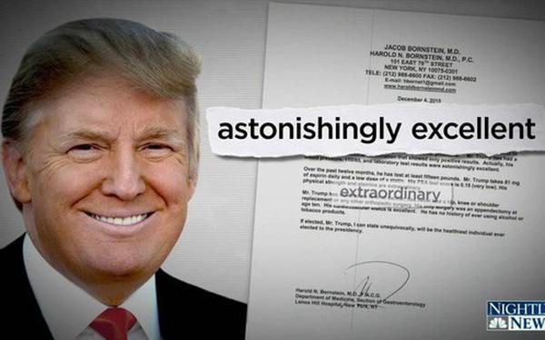 """Kiểm tra sức khỏe: Nhận thức """"thiên tài"""", bộ gen vượt trội, tại sao ông Trump vẫn không khỏe mạnh?"""