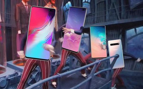"""Samsung cũng học tập Apple, cố gắng che đi """"nốt ruồi"""" trên màn hình Galaxy S10 bằng hình nền"""
