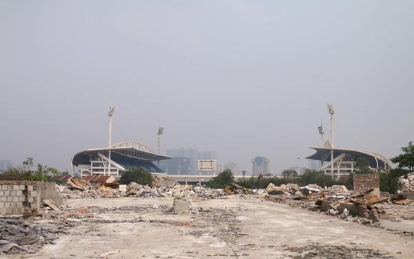 Cận cảnh khu vực chuẩn bị thành đường đua F1 ở Hà Nội