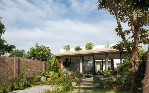 Thiết kế đơn giản nhưng ngôi nhà 1 tầng ở Hà Nội vẫn đẹp như biệt thự nghỉ dưỡng