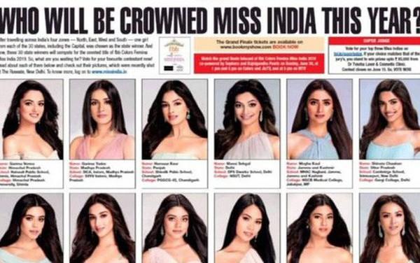 """Cuộc thi Hoa hậu Ấn Độ khiến dân tình hoa mắt chóng mặt vì 30 thí sinh dự thi giống nhau như """"copy & paste"""""""