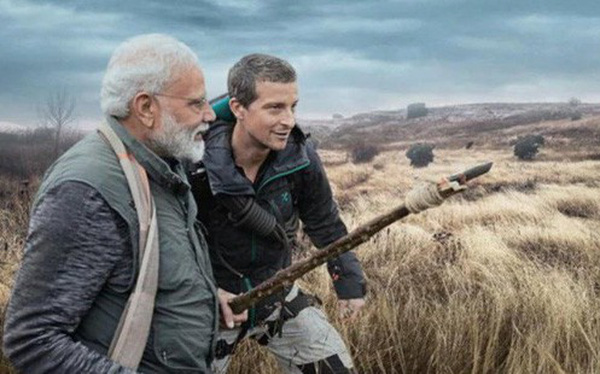 Sau ông Obama, Thủ tướng Ấn Độ theo chân Bear Grylls thử sinh tồn trong vùng hoang dã