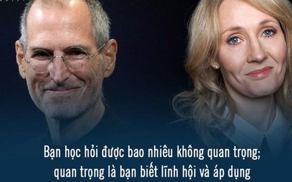 GPA 2,65 nhưng Steve Jobs vẫn làm CEO, đạt toàn điểm C nhưng J.K. Rowling vẫn là nhà văn tỷ phú: Tri thức là sức mạnh nhưng biết nhiều chẳng khiến bạn thành công hơn!