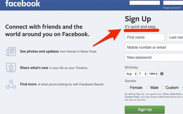 """Vào mà xem Facebook bí mật đổi slogan từ lúc nào, phải chăng vì sợ dính """"phốt"""" mới?"""