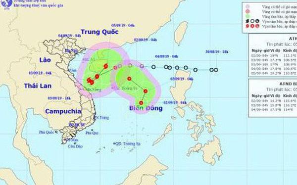 Áp thấp nhiệt đới mạnh thành bão số 5 hướng vào Quảng Trị - Quảng Ngãi