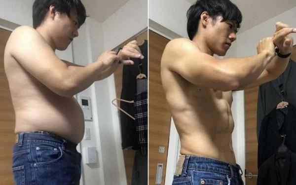 Anh chàng Nhật Bản chia sẻ bài tập thể dục 4 phút mỗi ngày giúp anh có được cơ bụng 6 múi chỉ sau 5 tháng